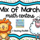 Mix of March math centers