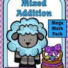 Mixed Addition Easter Mega Math Pack - Printables and Cent