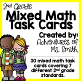 Mixed Math Task Cards: 2nd Grade Math Review