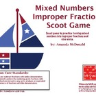 Mixed Number &amp; Improper Fraction Scoot Game