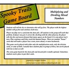Mixed Number Multiplication and Division Halloween Board Game