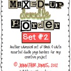 Mixed-Up Doodle Borders: Set 2 - Black/White (Set of 40)
