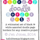 Mixed-Up Doodle Borders: Set 3 - Black/White (Set of 50, 1