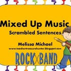 Mixed Up Music ~ Scrambled Sentence Word Work