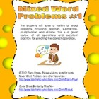 Mixed Word Problems #1