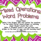 Mixed Word Problems Activity & Worksheets (Common Core 2.OA.1)