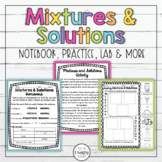 Mixtures and Solutions Activity Homework