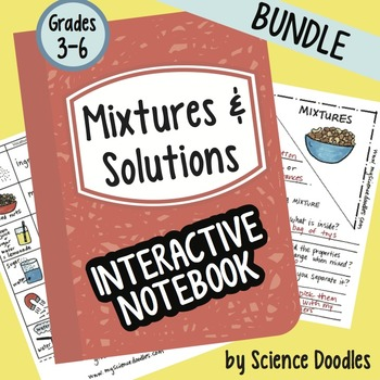 Mixtures and Solutions Whole Unit BUNDLE by Science Doodles