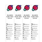 Mnemonic Bookmarks PLANETS