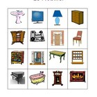 Mobilier (Furniture in French) Bingo game