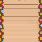 Mocha Dots Printable Notes