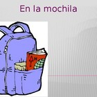 Mochila School objects in Spanish power point