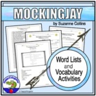 Mockingjay by Suzanne Collins Vocabulary List and Activities