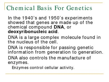 Modern Genetics PowerPoint Presentation Lesson Plan