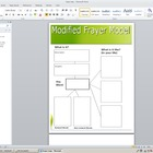 Modified Frayer Model Vocabulary Map