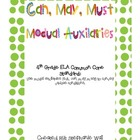 Modual Auxiliaries Can, May, or Must 4th Grade ELA Common Core
