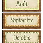 Mois pour le calendrier sous la thmatique du camping