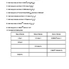 Mole worksheet #2