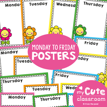 Monday to Friday Charts / Posters - News, Show & Tell, Groups