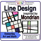 Mondrian-Inspired Line Design Art Lesson