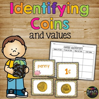Money Coin Activity Center Worksheet, First Grade