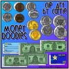 Money Doodles (BW and full-color PNG images)