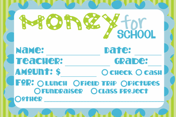 Money For school Label
