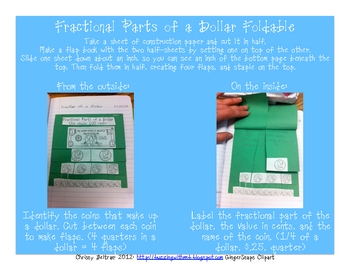 Money Fractions Foldable Freebie