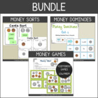 Money Fun Pack {Identifying Coins & Working with Coin Sets to $1}