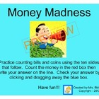 Money Madness - Interactive Whiteboard Counting Money Activity