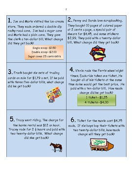 Money Math Activity