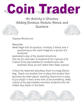 Money Math Center: Pennies, Nickels, Dimes, and Quarters