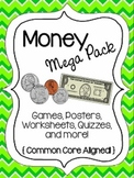 Money Mega Pack {Common Core}-Games, Worksheets, Quizzes,