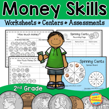Money Skills for 2nd Grade {3 Money Centers plus Class Yar