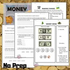 "Money Worksheets - ""Money Sense"" and ""Making Change"""