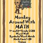 Monkey Around with Math CCSS Math Words, Addition and Subtraction