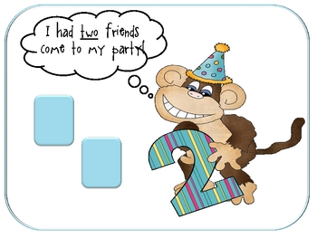 Monkey Birthday Number Center