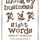 Monkey Business Sight Words-Dolch 2nd Grade List