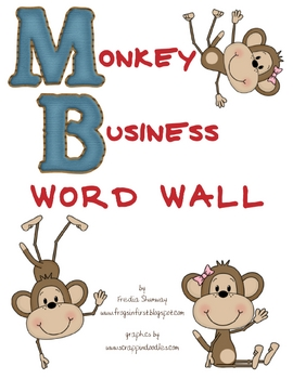 Monkey Business Themed Word Wall