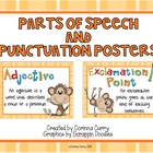 Monkey Madness Parts of Speech and Punctuation Posters