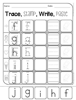 Monkey Madness - Trace, Stamp, Write (lowercase)