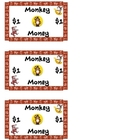 Monkey Money! Reward for Students! (Great Incentive!)