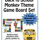 Monkey Theme (7 -2 page) Game Board Set -Pre-K and K