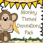 Monkey Theme or Jungle Theme Classroom Decorations Super P