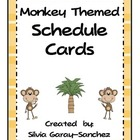 Monkey Themed Schedule Cards