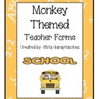 Monkey Themed Teacher Forms