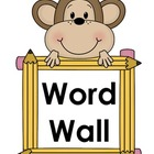Monkey Word Wall Header Labeling Set