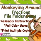 Monkeying Around Fractions File Folder Game