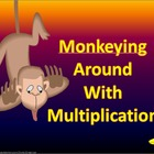 Monkeying Around with Multiplication - Electronic Flashcards