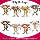 Monkeys Clip Art by Jeanette Baker